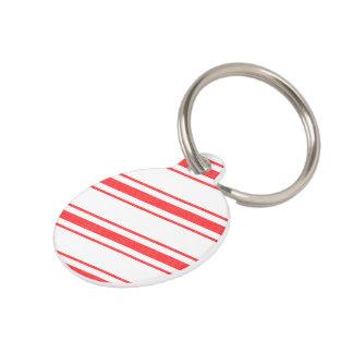 Médaillon Pour Animaux Rayures de coutil de lit de matelas rouge de Noël