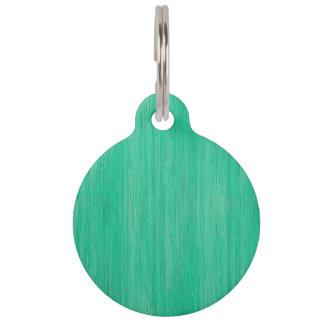 Médaillon Pour Animaux Regard du bois en bambou de grain de vert de mer