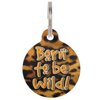 Médaillon Pour Animaux Soutenu pour être étiquette sauvage