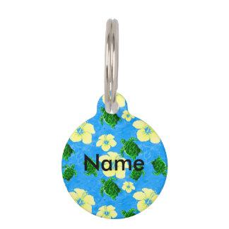 Médaillon Pour Animaux Tortue de mer verte hawaïenne