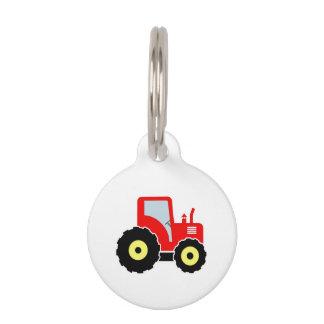Médaillon Pour Animaux Tracteur rouge de jouet