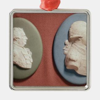 médaillons de George IV Ornement Carré Argenté