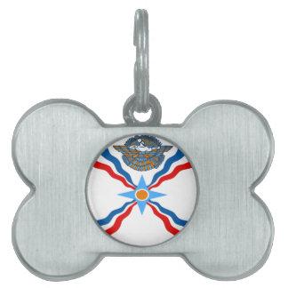 Médaillons Pour Animaux Domestiques Assyrien-Drapeau