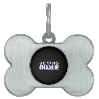 Médaillons Pour Animaux Domestiques Drapeau de Je Suis Charlie-Je AM Charlie-Israël