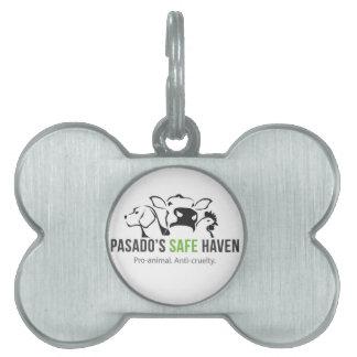 Médaillons Pour Animaux Domestiques Étiquette d'animal familier de logo de sanctuaire
