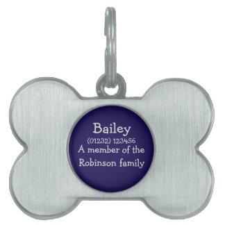 Médaillons Pour Animaux Domestiques Étiquette personnalisable d'animal familier