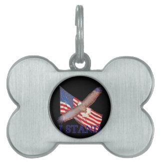 Médaillons Pour Animaux Domestiques je représente l'Amérique