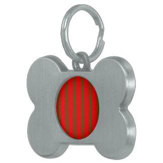 Médaillons Pour Animaux Domestiques Rayure de coutil de matelas vert et rouge de Noël