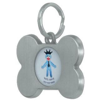 Médaillons Pour Animaux Domestiques Singe bleu bariolé
