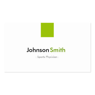 Médecin de sports - vert en bon état simple carte de visite standard