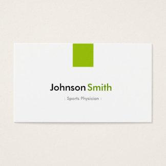 Médecin de sports - vert en bon état simple cartes de visite