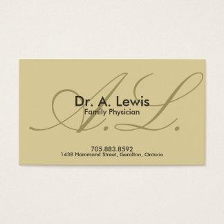Médecin et carte de visite médical - monogramme