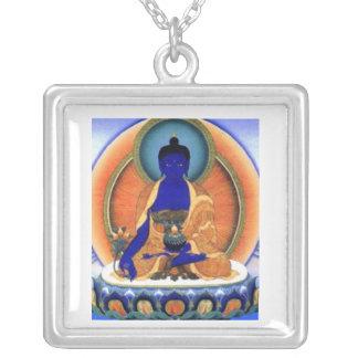 Médecine Bouddha Pendentif Carré