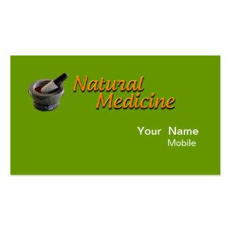 Médecine naturelle modèles de cartes de visite