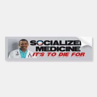 Médecine socialisée autocollant pour voiture