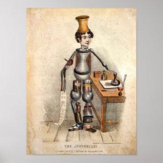 Médecine vintage : copie 1850 d'image poster