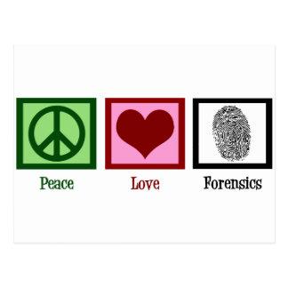 Médecines légales d'amour de paix carte postale