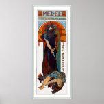 Medee (Medea) - Mucha - annonce de théâtre de Nouv Posters