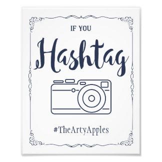 médias sociaux de marine épousant le hashtag de photos d'art