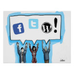 Médias sociaux FTW ! Affiches