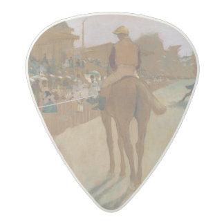 Médiator Acetal Chevaux de course d'Edgar Degas   devant les