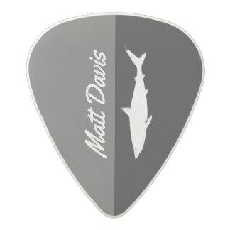 Médiator Acetal guitariste de requin, nom fait sur commande,