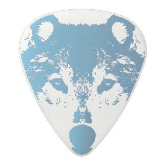 Médiator Acetal Loup de bleu glacier d'illustration