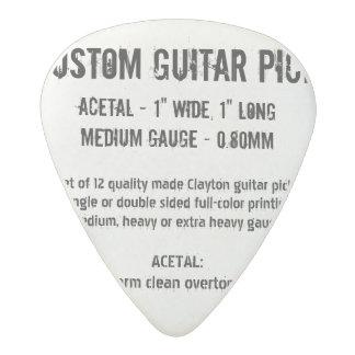 Médiator Acetal Onglet de guitare fait sur commande - acétal,