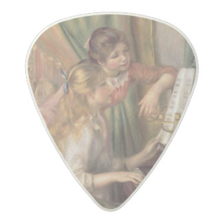 Médiator Acetal Pierre jeunes filles de Renoir un | au piano