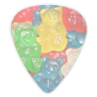 Médiator Delrin Blanc gummybears, sucrerie, colorée, amusement, enfants,