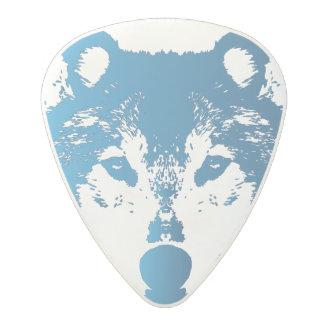 Médiator En Polycarbonate Loup de bleu glacier d'illustration