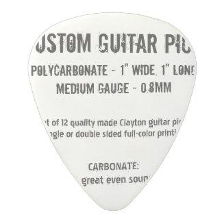 Médiator En Polycarbonate Onglet de guitare fait sur commande - carbonate,