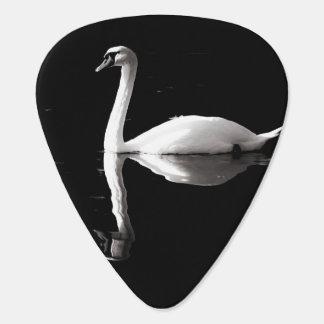 Médiator guitare cygne noir et blanc