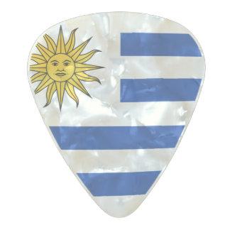 Médiator Perle Celluloid Drapeau des onglets de guitare de l'Uruguay