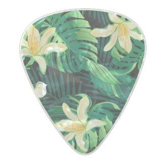 Médiator Perle Celluloid Floral luxuriant tropical