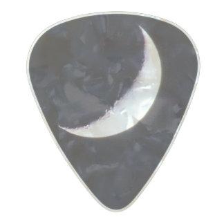 Médiator Perle Celluloid onglet de guitare de lune