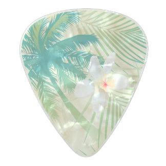 Médiator Perle Celluloid Palmiers tropicaux d'été