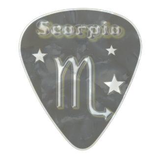 Médiator Perle Celluloid Symbole de chrome de Scorpion