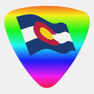 Médiators Arc-en-ciel de drapeau du Colorado
