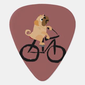 Médiators Bicyclette drôle d'équitation de chiot de carlin