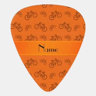 Médiators Bicyclettes oranges nommées personnalisées