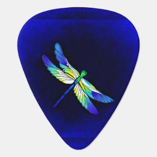Médiators Bleu électrique de libellule - personnalisez avec