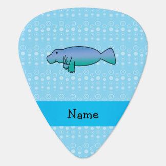 Médiators Bulles nommées personnalisées de bleu de lamantin