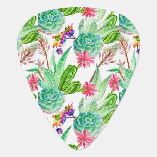 Médiators Cactus lumineux d'aquarelle et motif succulent