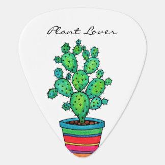 Médiators Cactus magnifique d'aquarelle dans le beau pot
