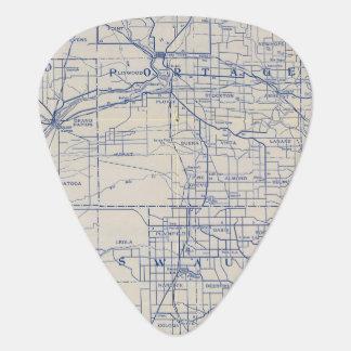 Médiators Carte de route de bicyclette du Wisconsin 2