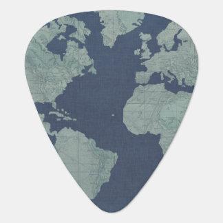 Médiators Carte de toile bleue du monde