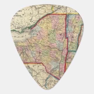 Médiators Carte du comté des états de New York