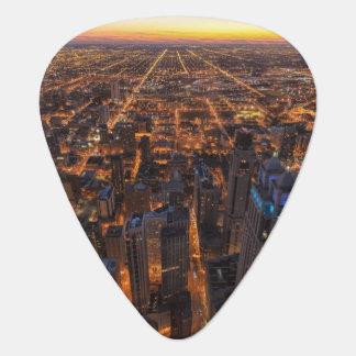 Médiators Chicago du centre au coucher du soleil