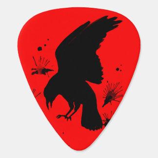 Médiators Corbeau rouge noir plus jamais